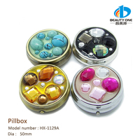 HX-1129 New Design Wedding Gift Vanity Flexible Cute Travel Pocket Pill Case