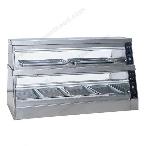 Automatic Professional Industrial Glass Food Warmer Display showcase