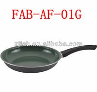 8'' Aluminum Non-stick White Heavy Ceramic Fry Pan With Black Handle