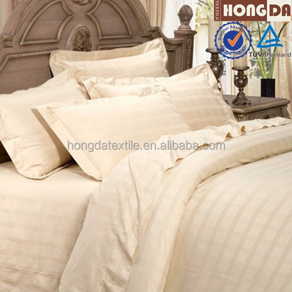 Egyptian cotton 300TC jacquard fabric bed linen sheets set for hotels