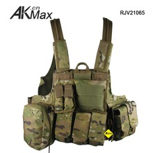 Multicam Military Tactical Mag Pouch Vest Chest Rig 600D Polyester