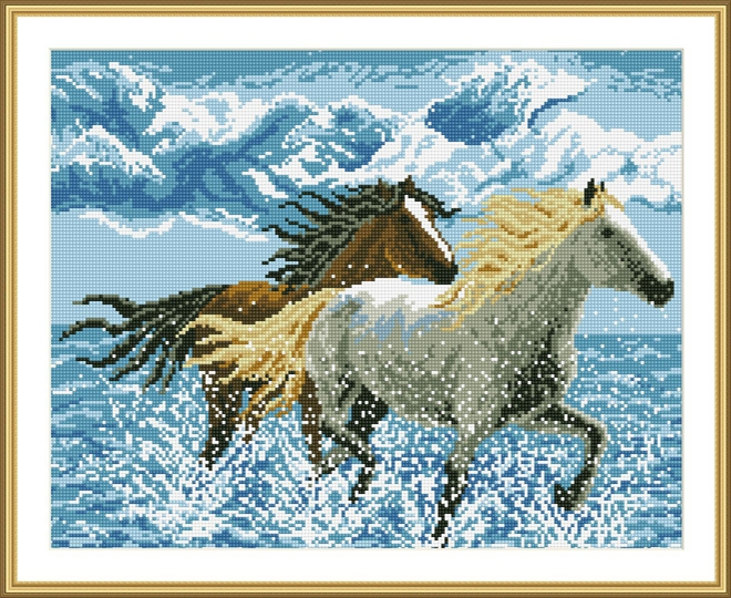 Russian design GZ126 40*50 horse DIY mosaic diamond painting for home decoration