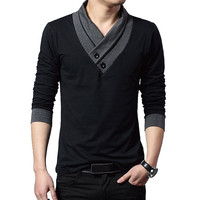 MOON BUNNY Thin Sweater Men 4XL Clothing Patchwork V Neck Knitted Pullover Men Slim Fit Plus Size Men's Top Long Sleeve wholesal