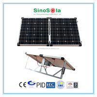 sinosola's 100 watt folding solar panel with TUV/IEC61215/IEC61730/CEC/CE/PID