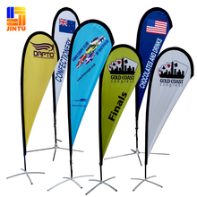 Custom Made Cheap Teardrop Beach Flag Banner For Advertising