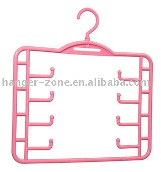 Four-layer plastic tie hanger made of PP material Direct Deal