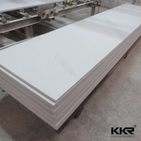 Pure white solid surface slabs, corians acrylic solid surface 30mm