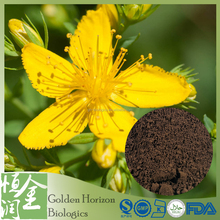 High Quality ST John's Wort Extract Powder with 0.3% Hypericin Powder BY UV