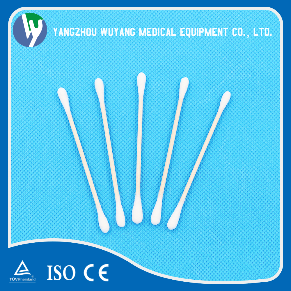 200 pcs OEM design wooden stick cotton buds manufacturers pure cotton swabs