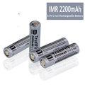 Full Capacity Li ion 18650 3.7v Rechargeable Battery 2200mAh