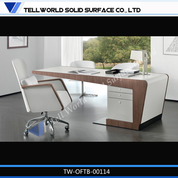 Person Office Desk Round Shaped Office Desks / Office Table