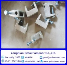 Malleable iron beam clamp Galvanized with high quality from 18 to 45mm