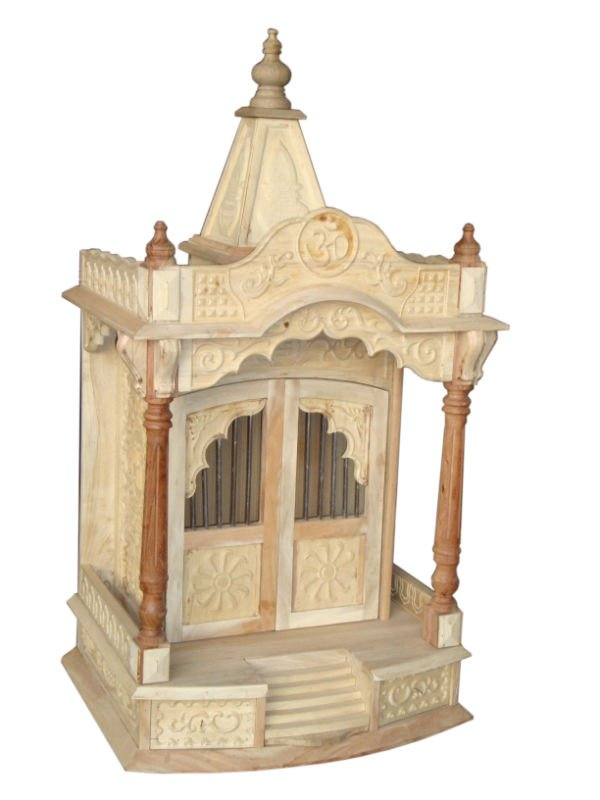 Home wooden temple design for Mandir at home designs