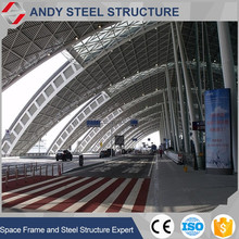 Prefabricated arch galvanized roof trusses for airport