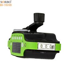 3 in 1 Hand Crank Generator Wind/Solar/Dynamo Rechargeable Powered FM/AM Radio,Phones Chargers LED Flashlight