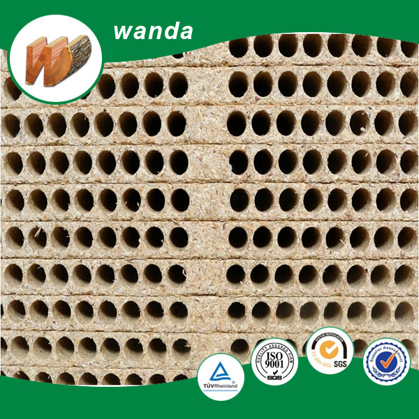 hollow core particle board / chipboard , tubular chipboard for door
