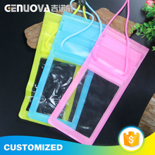 Eco style PVC material waterproof smartphone bag for sale