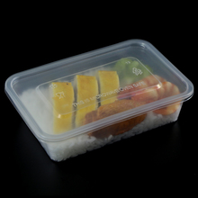 Super September promotion FDA 500ml clear PP disposable plastic lunch box container with lid