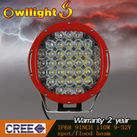 High power !! Super Bright 12v 24v Cree LED Work Light 111w LED Aluminum Driving Lights