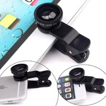 3 in1 Glass Fisheye Fish Eye Lens Wide Angle Macro Mobile camera Phone Lens Kits For iPhone Samsung for Xiaomi Fisheye Lens