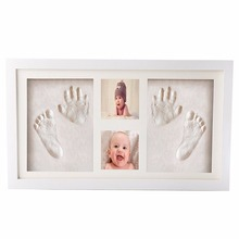 Wall Hanging Baby Hand Print and Footprint Clay Picture Photo Frame Kit Best Baby Shower Gifts