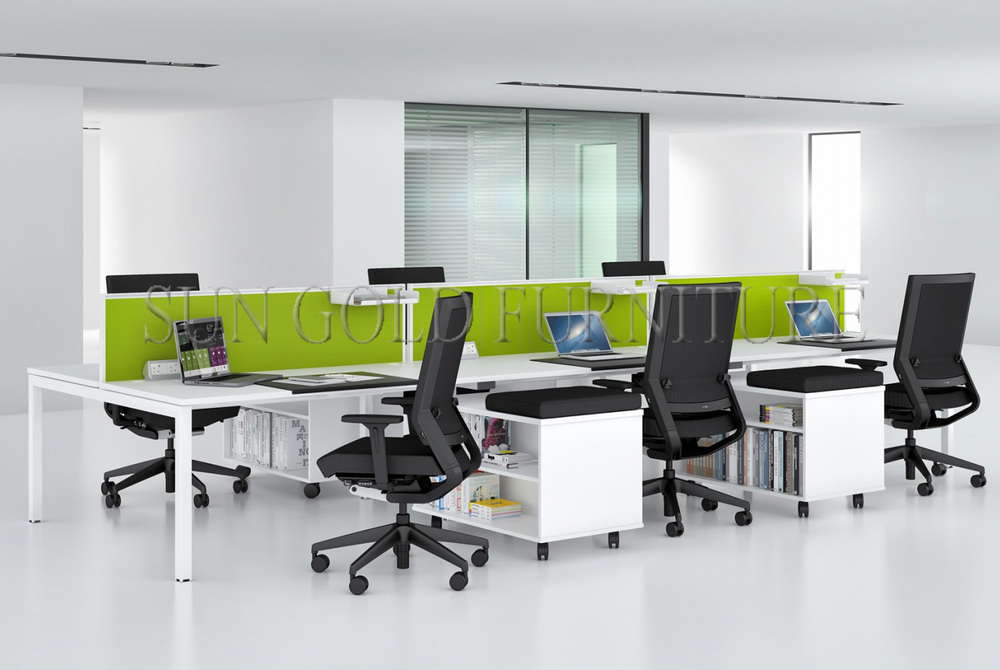 wholesale cheap 6 seat office furniture partition sz ws049