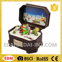 2016 christmas best gift for children christmas music box with light and songs