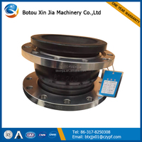 single sphere galvanized flange rubber expansion joint