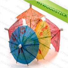 High Quality Wooden Toothpicks Cocktail Parasol Picks for Decoration