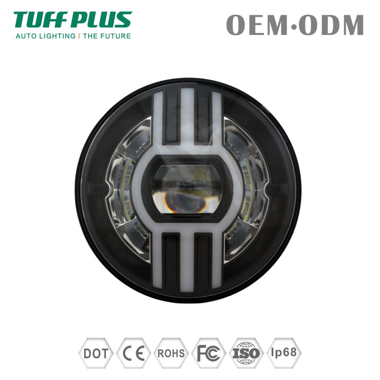 New wholesale price DOT 7inch circular sealed beam led head light