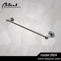 2016 Wall mounted Factory production of plated chrome Zinc Alloy single towel bar,towel holder
