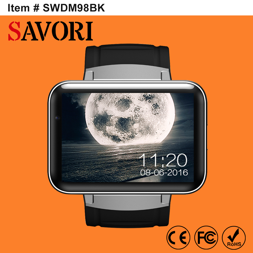 "DM98 2.2"" MTK6752 GPS phone watch 3G dual sim <strong>wifi</strong> android smartwatch smart watch with <strong>wifi</strong> and 3G Denmark in Shenzhen Savori"