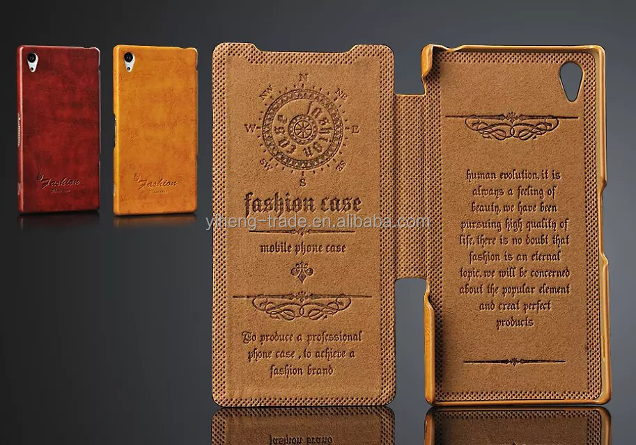 2014 Genuine Leather Stand Case For Sony Xperia Z2 Luxury Wallet Flip Cover with Card Holders