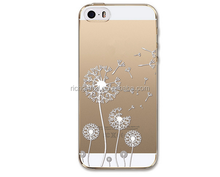 Phone Cases for iPhone 5 5S 6 Transparent Crystal Case Design TPU Silicon Phone Covers Shell Back Case