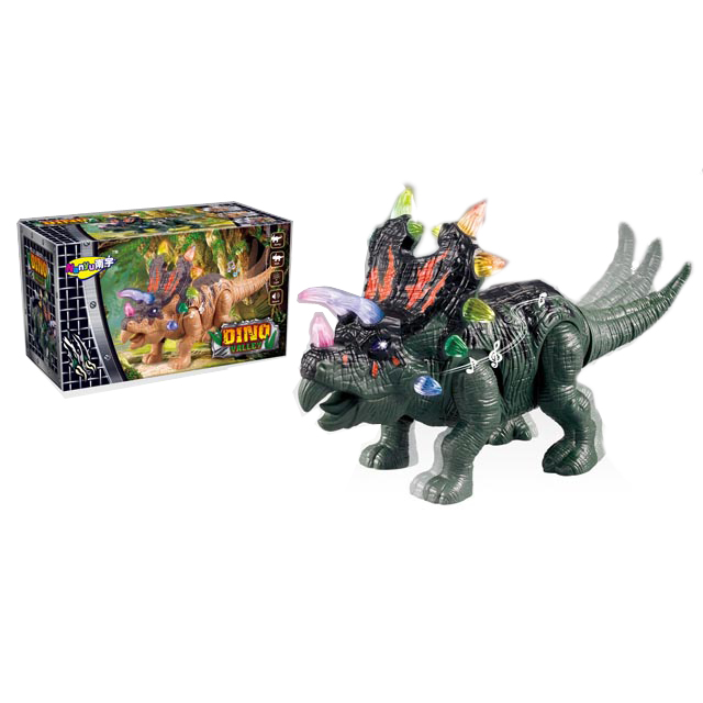 2017 Wholesale Electronic Triceratops Toy <strong>w</strong>/Lights Sounds &amp; Walking Action