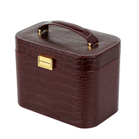 handmade Deluxe leather jewelry box& cosmetic box from Zhejiang for lady