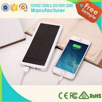 2015 high capacity power bank solar power bank outdoor mobile charger