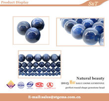 Good quality natural round loose wholesale blue kyanite gemstone jewelry for men