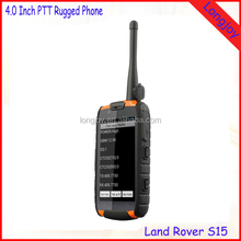 Unlocked 4 inch Quad Core Dual SIM Card Walkie Talkie PPT Android Rugged Waterproof Mobile Phone with NFC Support