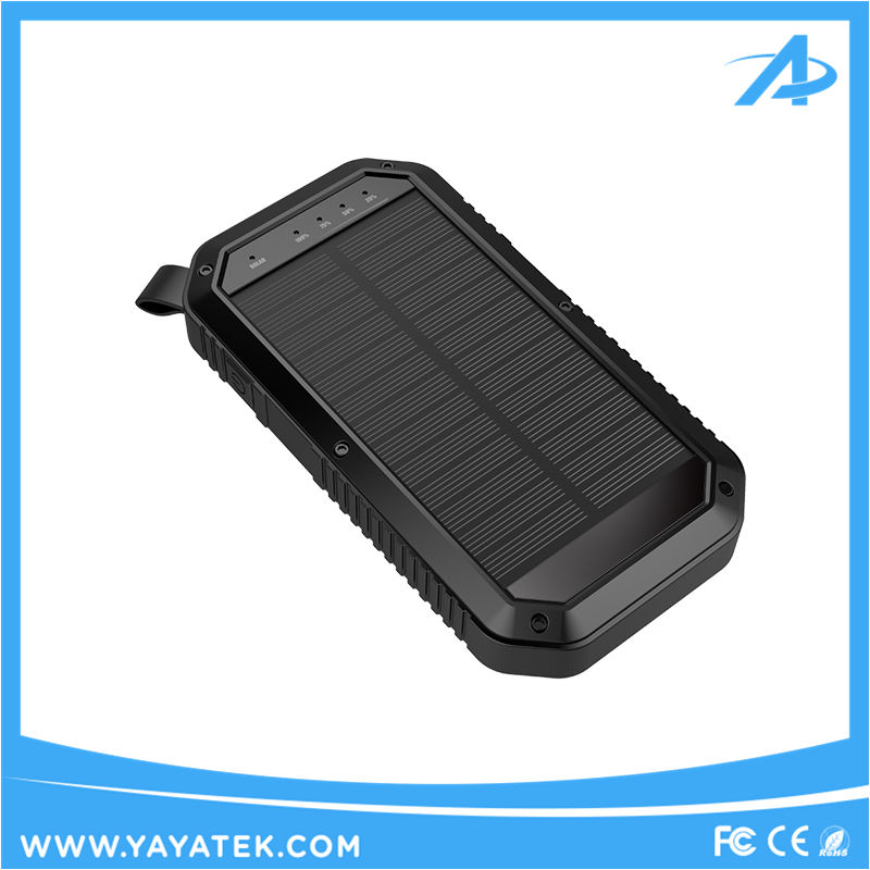IP67 water proof 8000mah smart solar power bank with camping light