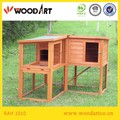Double cages rabbit hutch