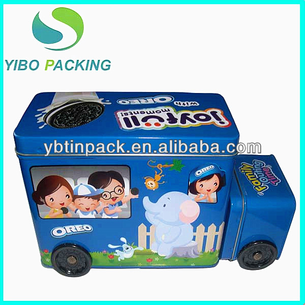 car shaped cookies tins container,custom made food storage tin cans