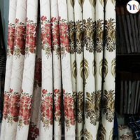 luxury linen looking jacquard fabric for window curtain Luxury European curtain, turkey curtain