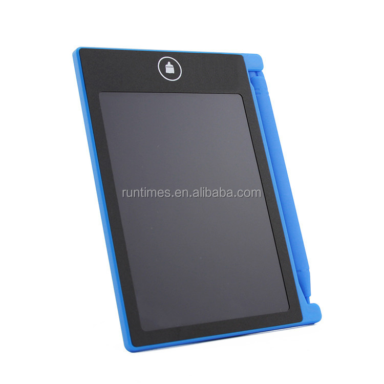 LCD Writing Tablet Digital Ewriter 4.4 Inch Graphics Tablet Portable White Board Rugged Drawing Tablet(blue)
