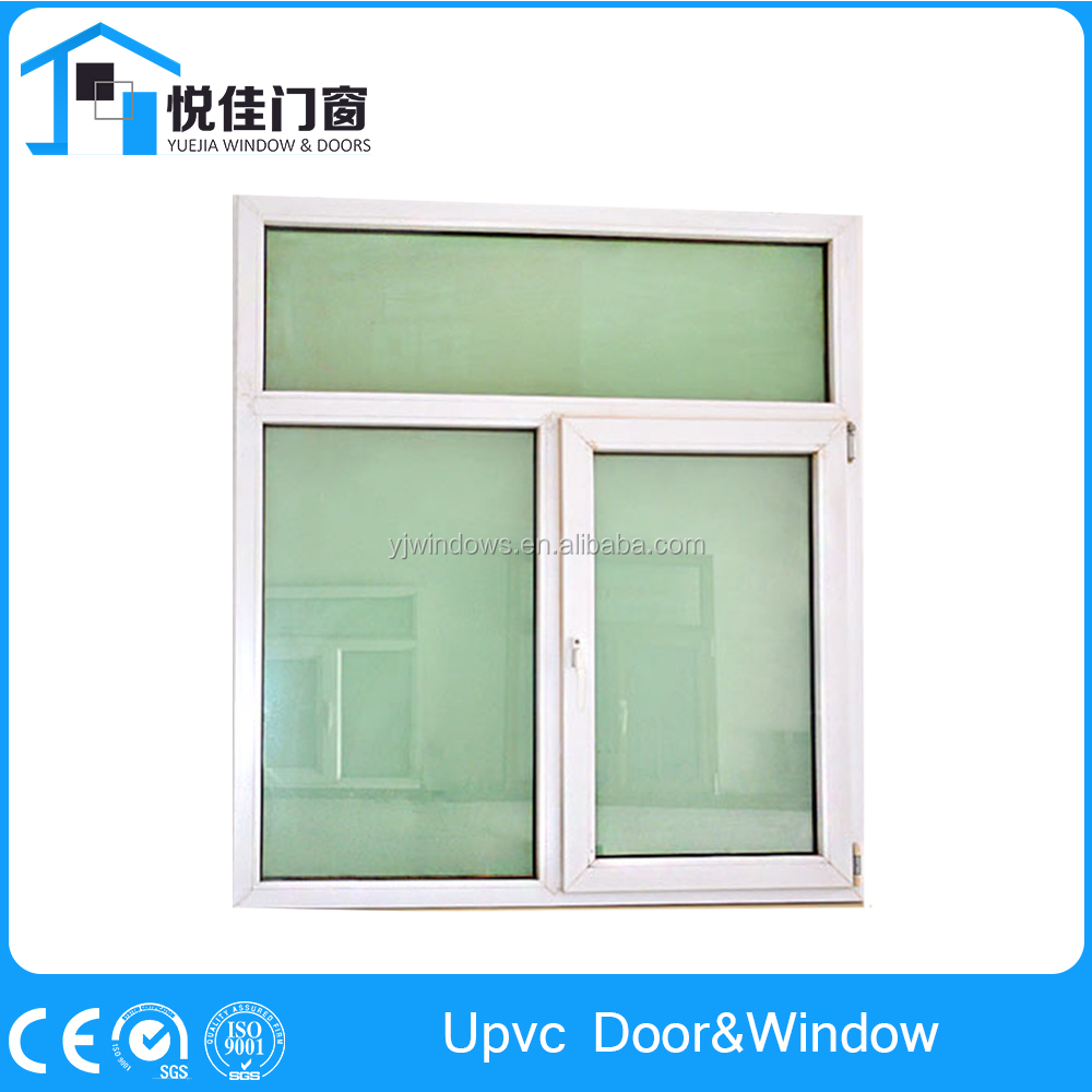 Stable quality upvc hinges casement window with friction stays