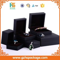 Customize Quality Soft Touch Jewelry Box Paper Packaging Box With Bowknot, Wholesale Ring Display Boxes In China