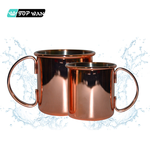 Manufacturer wholesale smirnoff vodka and ginger beer copper mugs with logo customized