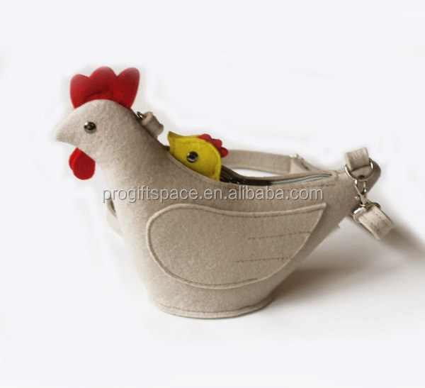 2017 hot sell Chicken Purse Felt Children Small Bag Coin Purse made in China