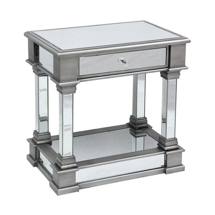 Modern Fancy Mirrored Coffee Side End <strong>Table</strong>
