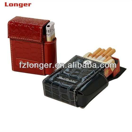 Promotiong gift custom PU leather cigarette box